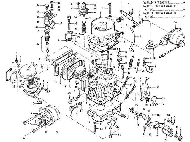 510 carburetor hitachi l16 manual from aug 70 to may 71