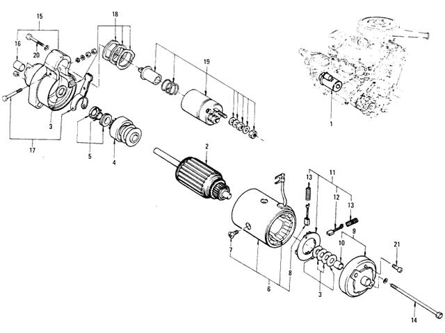 motor parts  hitachi starter motor parts