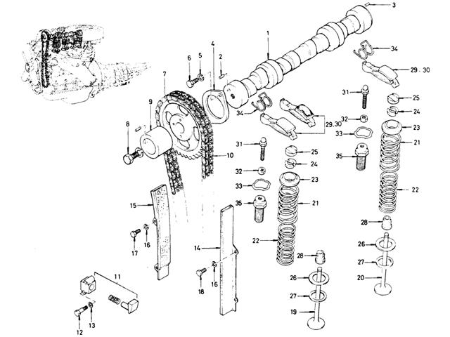 datsun bluebird 510 camshaft  u0026 valve mechanism
